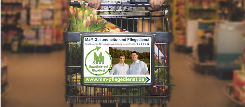 MM Pflegedienst Einkaufswagen